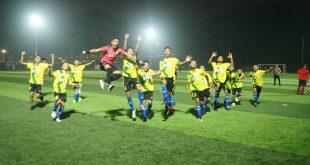 Selbrasi para pemain PPLP-D Muba usai meraih tiket semifinal. FOTO :VIRALSUMSEL.COM