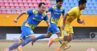 Yu Hyun Koo gelandang asal Korea perkuat All Star Inzaghi PCL dalam uji coba versus Sriwijaya FC. FOTO : PCL