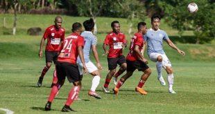 Persipura saat uji coba melawan Sulut United. FOTO : IG
