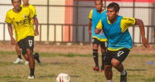 Hapit Ibrahim gelandang bertahan Muba Babel United. FOTO : VIRALSUMSEL.COM