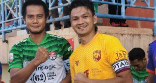 Bobby Satria kapten Muba Babel United (jersey kuning). FOTO : VIRALSUMSEL.COM