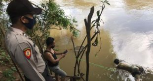Seorang warga di Musi Rawas menemukan mayat terapung di Sungai saat memancing. FOTO :VIRALSUMSEL.COM