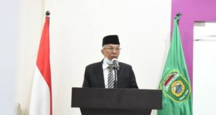 Wakil Gubernur Sumsel H.Mawardi Yahya menghadiri Rapat Paripurna XIII (13) DPRD Provinsi Sumsel via video conference. FOTO :VIRALSUMSEL.COM