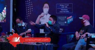 H Herman Deru Gubernur Sumsel saat Grand Launching Radio Sumsel. FOTO :VIRALSUMSEL.COM