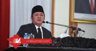 Gubernur Sumsel H Herman Deru sampaikan Raperda pertanggungjawaban pelaksanaan APBD Provinsi Sumsel tahun anggaran 2019 . FOTO :VIRALSUMSEL.COM