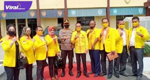 Para pengurus DPW Partai Berkarya Sumsel Silaturahmi dengan Kapolda Sumsel. FOTO :VIRALSUMSEL.COM
