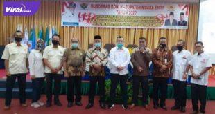 Ketua Umum KONI Sumsel H Hendri Zainuddin hadiri Musorkab KONI Kabupaten Muara Enim. FOTO : VIRALLSUMSEL.COM
