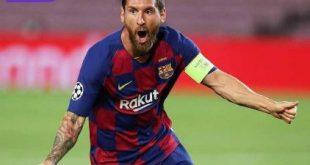 Lionel Messi penyerang Barcelona selebrasi usai cetak gol. FOTO : IG BARCELONA