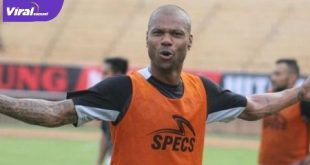 Hilton Moriera mantan penyerang Sriwijaya FC. FOTO :VIRALSUMSEL.COM