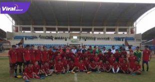 Para pemain Persipra Prabumulih usai seleksi tahap pertama di Stadion Talang Jimar. FOTO : VIRALSUMSEL.COM