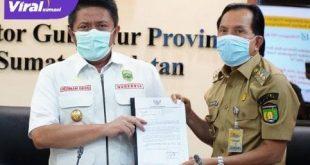 Gubernur Sumsel H Herman Deru bersama Walikota Prabumulih Ridho Yahya. FOTO : VIRALSUMSEL.COM