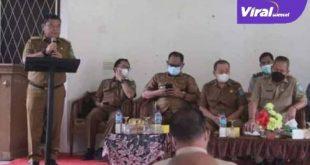 Bupati Ogan Ilir H.M.ilyas Panji Alam pamit pada masyarakat. FOTO :VIRALSUMSEL.COM