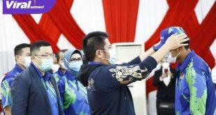 H Herman Deru Gubernur Sumatera Selatan hadiri launching Pelatda PON Papua. FOTO :VIRALSUMSEL.COM