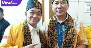 Tommy Soeharto Ketua Umum DPP Partai Berkarya dengan Ketua Umum DPW Partai Berkarya Sumsel Islah Taufik Effendy. FOTO :VIRALSUMSEL.COM