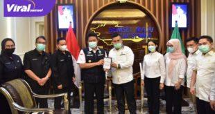 Gubernur Sumsel H Herman Deru terima audensi BPD HIPMI Sumsel. FOTO : VIRALSUMSEL.COM