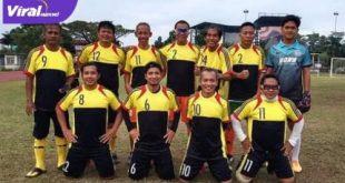 Starting eleven Sumsel Old Star siap hadapi Piala Presiden PS Palembang. FOTO : VIRALSUMSEL.COM