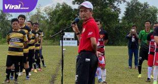 Ratu Dewa Presiden PS Palembang buka Betaji Cup 2021. FOTO : VIRALSUMSEL.COM