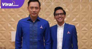 AHY Ketua Umum DPP Partai Demokrat bersama H Handry Pratama Putra SE Plt Ketua DPD Partai Demokrat OI. FOTO : VIRALSUMSEL.COM