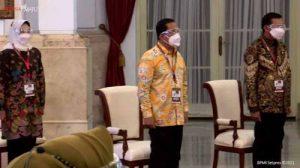 Wali Kota Lubuklinggau, H. SN Prana Putra Sohe, bersama sejumlah pejabat dilingkungan Pemkot Lubuklinggau menghadiri pembukaan Munas IV APEKSI di Istana Negara. FOTO : IST