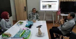 Kepala Diskominfo Kota Lubuklinggau, Erwin Armeidi melakukan kunjungan ke sejumlah lembaga, dalam rangkaian koordinasi dan konsultasi.FOTO : IST