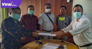 Erik Gustian diwakilkan pada Dodi Irmasyah daftar calon ketua Percasi Sumsel. FOTO : VIRALSUMSEL.COM