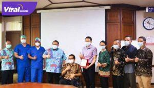 Direktur RSUD Sekayu, dr Makson Parulian Purba MARS audiensi dengan Jajaran RS Jantung Harapan Kita. FOTO : VIRALSUMSEL.COM
