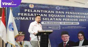 H Hendri Zainuddin Ketua Umum KONI Provinsi Sumsel. FOTO : VIRALSUMSEL.COM