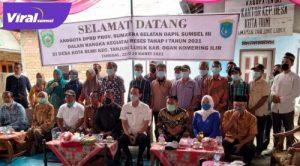 Reses Anggota DPRD Provinsi Sumsel Dapil Sumsel III Kabupaten OKI-OI di Tanjung Lubuk. FOTO : VIRALSUMSEL.COM
