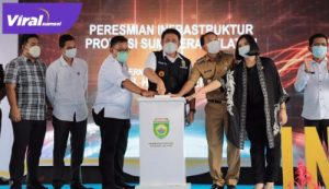 H Herman Deru Gubernur Sumsel hadiri peresmian pembangunan infrastruktur di Desa Talang Sako, Prabumulih. FOTO : VIRALSUMSEL.COM
