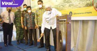 Mawardi Yahya Wakil Gubernur Sumsel buka rakor Gugus Tugas Reforma Agraria. FOTO : VIRALSUMSEL.COM