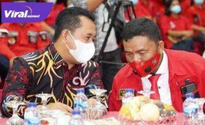 Bupati Banyuasin H Askolani bincang dengan pimpinan PBB. FOTO : VIRALSUMSEL.COM