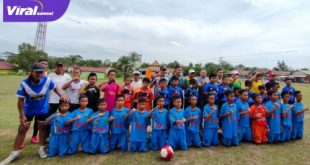 Tim SSB Putra Berlian Junior U-12 bersama tim PPLP-D Muba U-12. FOTO : VIRALSUMSEL.COM