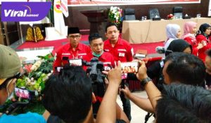 Ketua Wushu Indonesia Sumsel Muhammad Asrul Indrawan beri keterangan pada media. FOTO : VIRALSUMSEL.COM