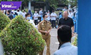 Ratu Dewa Sekda Kota Palembang hadiri HUT PDAM Tirta Musi. FOTO : VIRALSUMSEL.COM