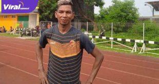 Valentino Telaubun wing back Sriwijaya FC. FOTO : VIRALSUMSEL.COM