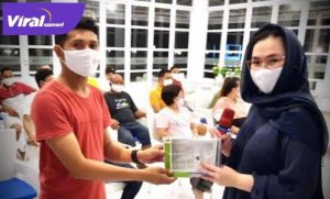 Amaliah Sobli S.Kg, M.B.A sosialisasikan Empat Pilar pada kalum milineal. FOTO : VIRALSUMSEL.COM