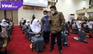 Gubernur Sumsel H Herman Deru buka Try Out (TO) Akbar 2021. FOTO : VIRALSUMSEL.COM