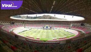Lukas Enembe Stadium yang nantinya menjadi tempat utama Venue PON XX Papua Tahun 2021 : FOTO: Erik / Cepos FOR VIRALSUMSEL.COM
