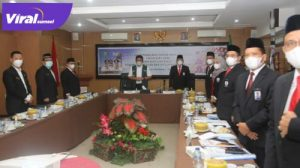 Suasana RUPS Tahunan, tahun buku 2020 BPR Sumsel di Ruang Karang Anyar, Hotel Swarna Dwipa, Palembang, Senin (12/4/2021). FOTO : VIRALSUMSEL.COM