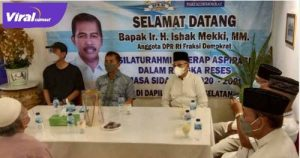 Anggota Komisi V DPR RI, Ir. H. Ishak Mekki, MM. bersilaturahmi dengan warganya sekaligus menyerap aspirasi sembar buka puasa bersama.FOTO : VIRALSUMSEL.COM