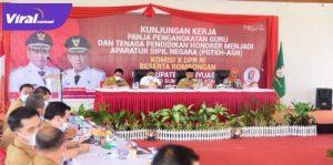 Wakil Bupati Banyuasin H. Slamet Somosentono, SH menerima Kunjungan Kerja Anggota Komisi X DPR RI, Senin (15/3/2021). FOTO : VIRALSUMSEL.COM