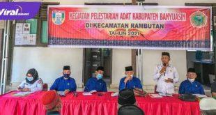 Kegiatan Pelestarian Adat Kabupaten Banyuasin di Kecamatan. Rabu, (21/04/2021). FOTO : VIRALSUMSEL.COM