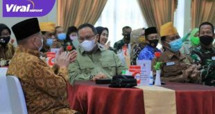Bupati Muba Dr Dodi Reza Alex Noerdin Lic Econ MBA hadiri Forum Silaturahmi Keluarga Besar TNI di Gedung Sudirman Makodam II/Sriwijaya. FOTO : VIRALSUMSEL.COM