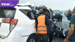 Kecelakaan maut di Jalan Tol Palembang-Kayuagung. FOTO : VIRALSUMSEL.COM