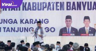 Bupati Banyuasin, H. Askolani, SH, MH Safari Ramadhan di Desa Bunga Karang, Kecamatan Tanjung Lago, Kabupaten Banyuasin, Senin (3/5/2021). Foto : viralsumsel.com