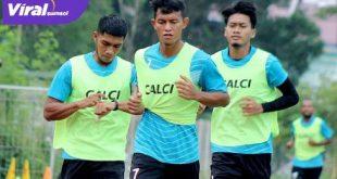 Para pemain Sriwijaya FC jalani rangkaian tes fisik, Rabu (19/5/2021). Foto : mosfc
