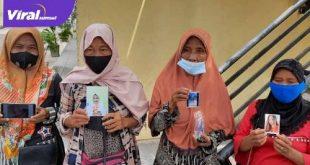 Keempat orang tua gadis ABG saat membuat laporan orang hilang di Polda Sumsel, Rabu (19/5/2021) siang. Foto : viralsumsel.com