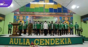 Gus Yaqut Ketua Umum PP GP Ansor hadiri pelantikan PW GP Ansor Sumsel di Ponpes Aulia Cendikia, Palembang, Senin (24/05/2021) malam. Foto : viralsumsel.com