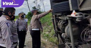 Kombes Pol Cornelis Ferdinan Hotman Sirait SIK SH memimpin langsung olah TKP kecelakaan tunggal bus Sambodo di Muba. Foto : viralsumsel.com