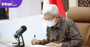 Wakil Gubernur Sumsel H. Mawardi Yahya ikuti Rakor Penyelenggaraan Perizinan Berusaha Berbasis Resiko dan OSSsecara virtual, Jumat (28/5/2021). Foto : viralsumsel.com